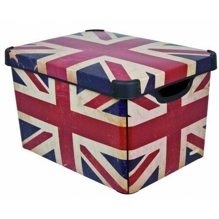Úložný box dekorativní L BRITISH FLAG, Curver