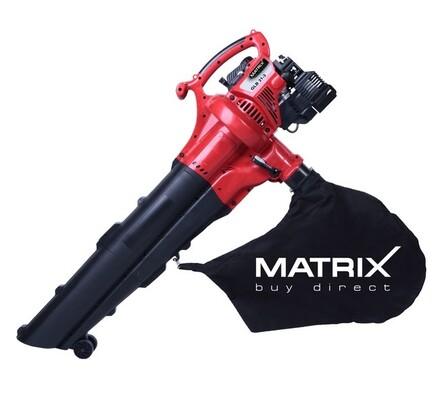 Benzínový vysavač listí Matrix GLB 31-3, červená