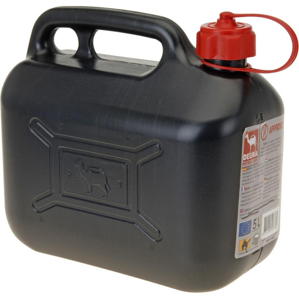 Benzínový kanister čierna, 5 l