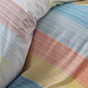 Bavlněné povlečení Karo oranžová, 140 x 200 cm, 70 x 90 cm