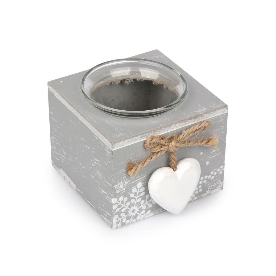 Altom Svícen Love Winter šedá, 8 x 9 cm