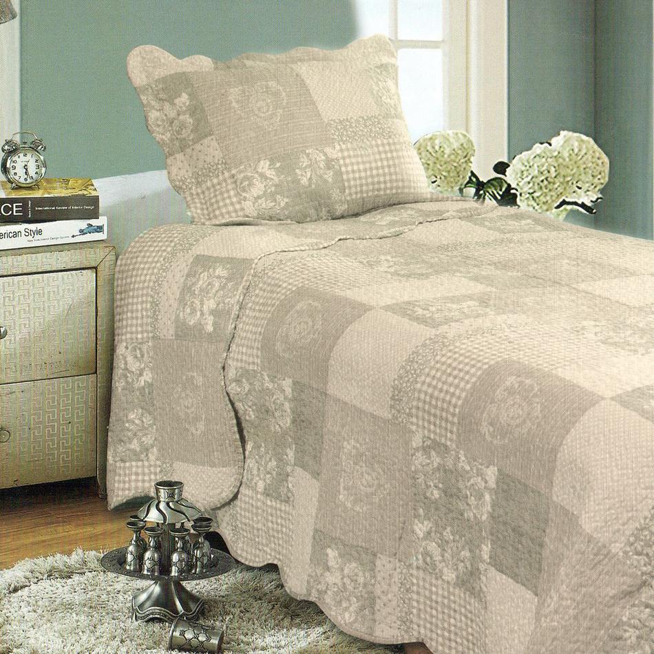 Přehoz na postel Patchwork, 140 x 200 cm, 1x 50 x 70 cm, 140 x 200 cm