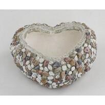 Obal na květináč Srdce s kamínky, 29 x 12 x 27 cm