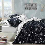Bavlněné povlečení Hvězdy, 140 x 200 cm, 70 x 90 cm