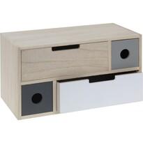 Dřevěná skříňka se 4 šuplíky Elche, 30 cm