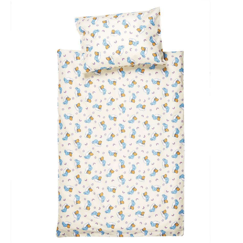 JAHU Detské bavlnené obliečky do postieľky Medvedík, 100 x 135 cm, 40 x 60 cm