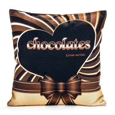 Polštářek Čokoláda hnědá, 40 x 40 cm