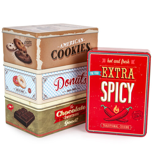 Plechový box Chocolate 22 x 16 x 9 cm