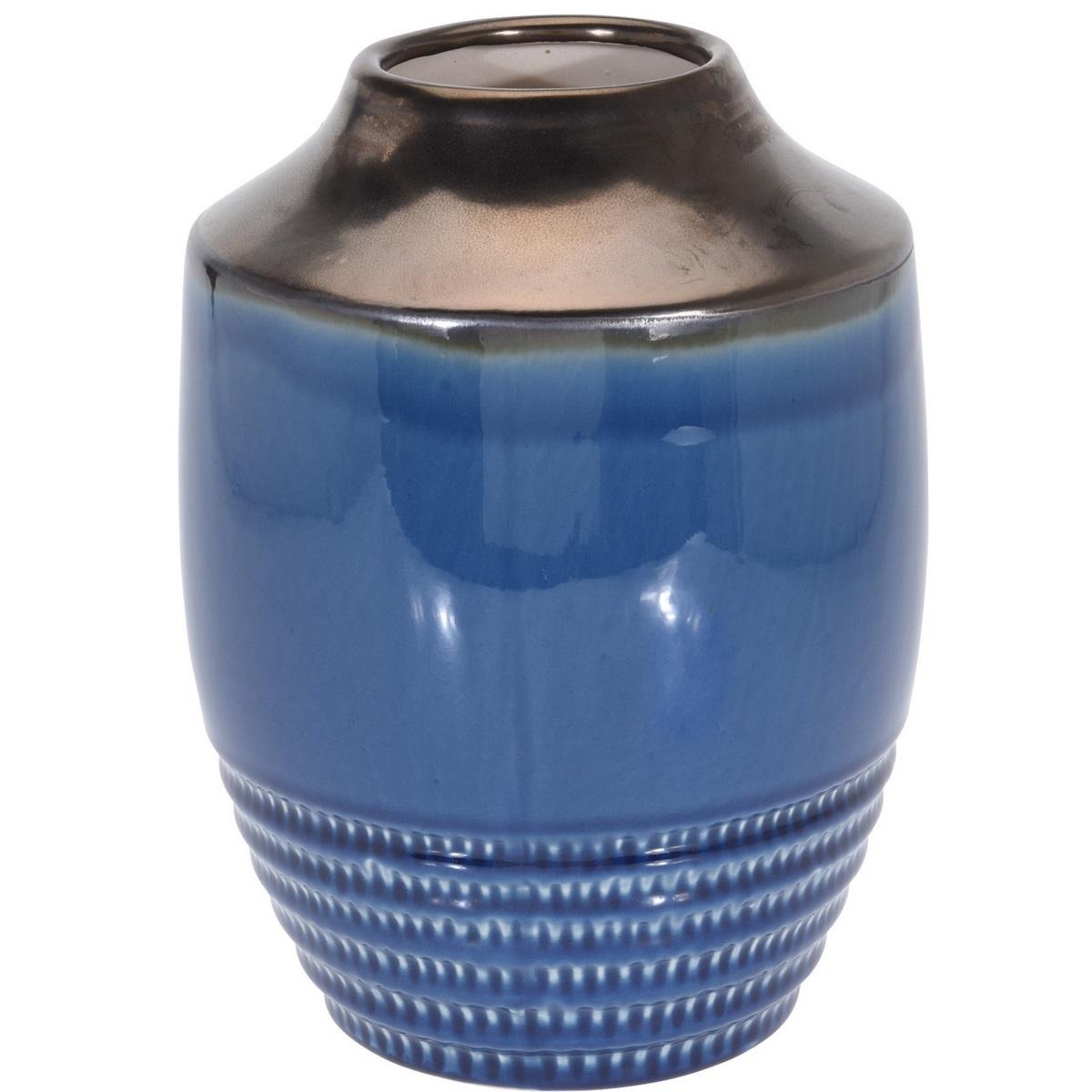 Wazon ceramiczny Anadia niebieski, 18,5 x 25 cm