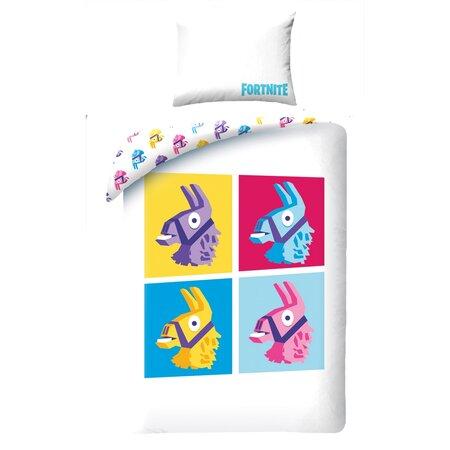 Lenjerie de pat din bumbac Halantex Fortnite 070, pentru copii, 140 x 200 cm, 70 x 90 cm