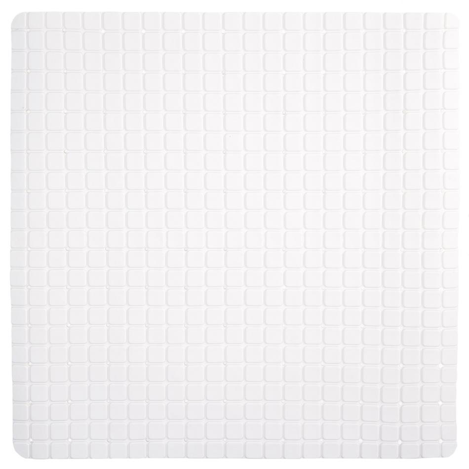 Koopman Protiskluzová podložka do koupelny bílá, 55 x 55 cm