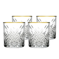 Mäser 4-dielna Sada pohárov na whisky Timeless  Golden Touch, 345 ml