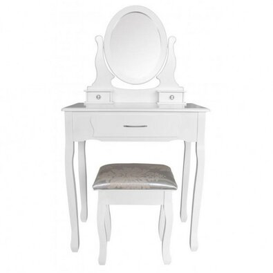 Toaletný stolík s taburetom Sofia, 135 x 71 x 40 cm