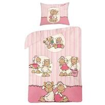 Pościel bawełniana dla dzieci Owieczka pink, 160 x 200 cm, 70 x 80 cm