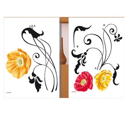 Samolepící dekorace Žlutá květina