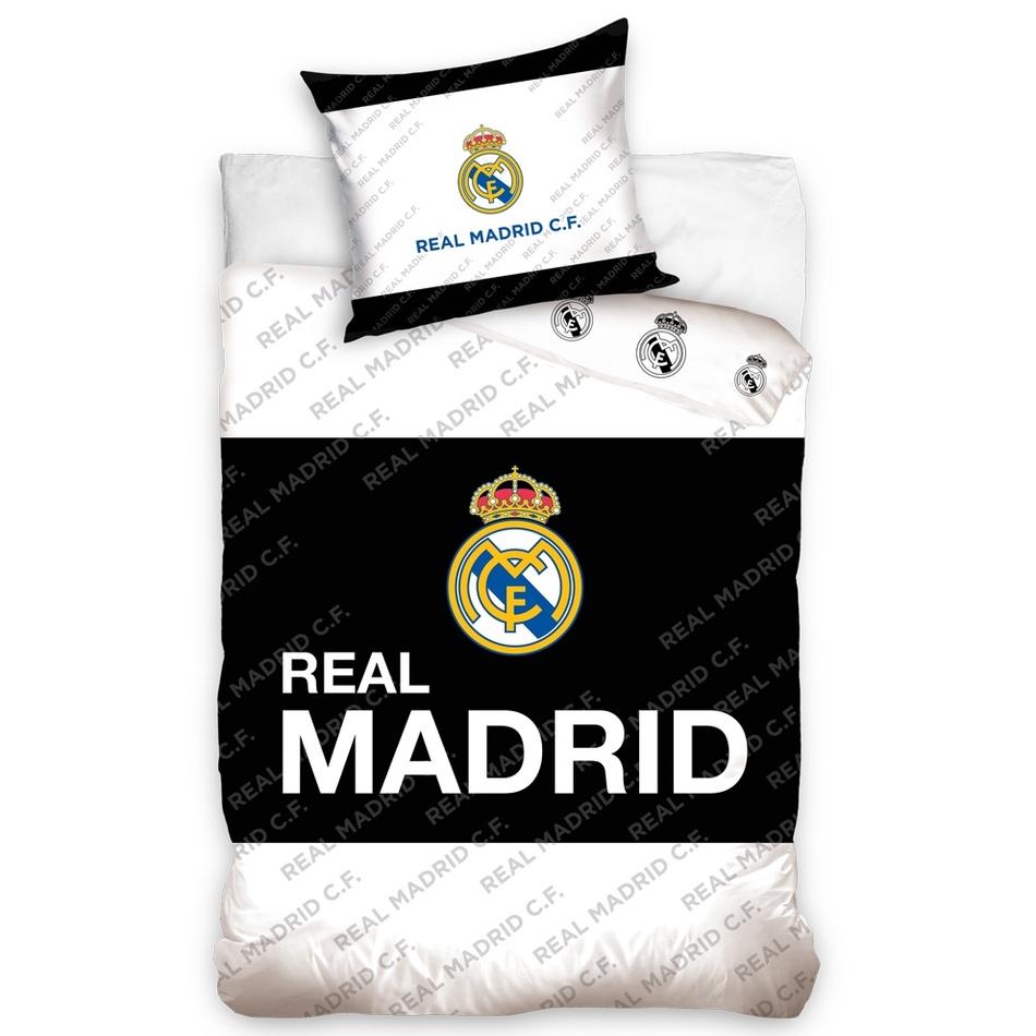 Tip Trade bavlněné povlečení Real Madrid Black Belt, 140 x 200 cm, 70 x 80 cm