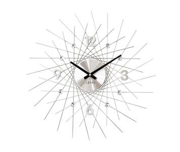 Nástěnné hodiny Lavvu Crystal Lines stříbrná