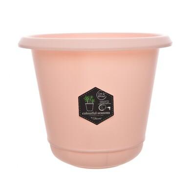 Plastový květináč Pastels růžová, 22 cm