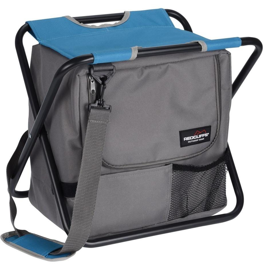Skládací stolička s chladicí taškou Redcliffts, šedá