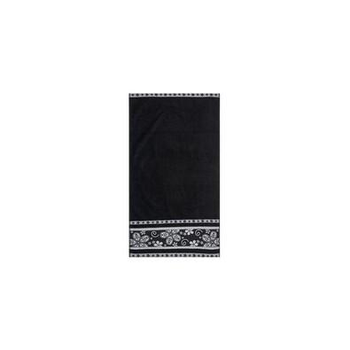 Ručník Fiora černá, 30 x 50 cm
