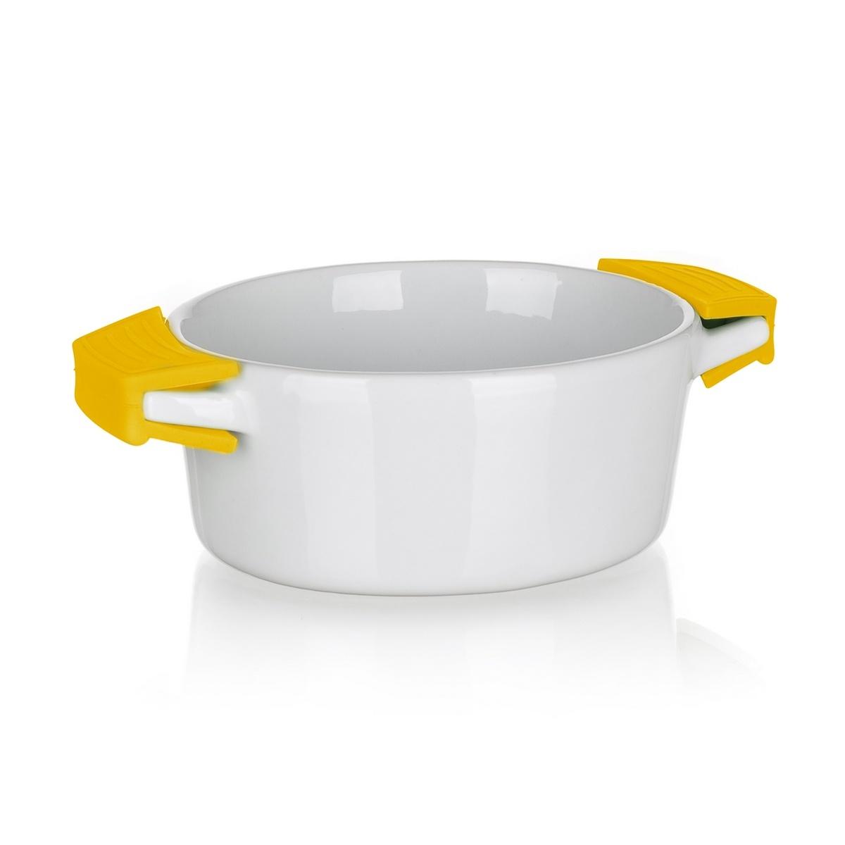 BANQUET Miska zapekací oválná COLOR PLUS Yellow 15 x 9,7 cm