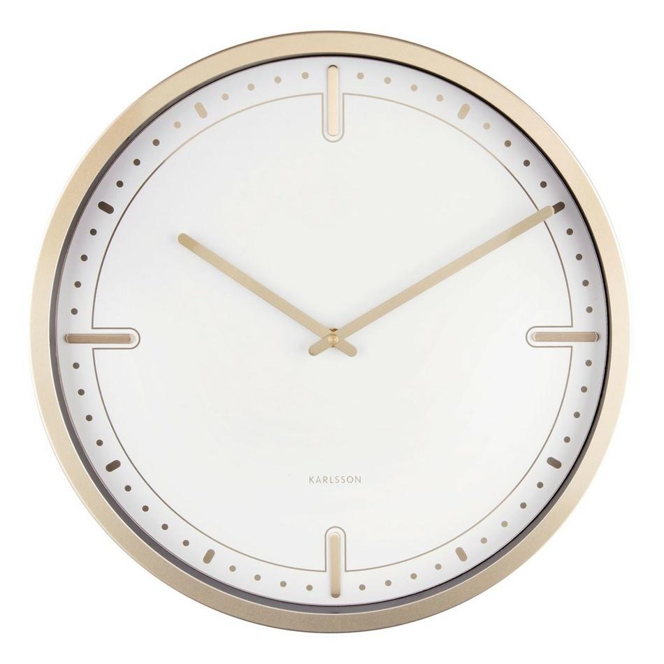 Karlsson 5727WH dizajnové nástenné hodiny, pr. 42 cm