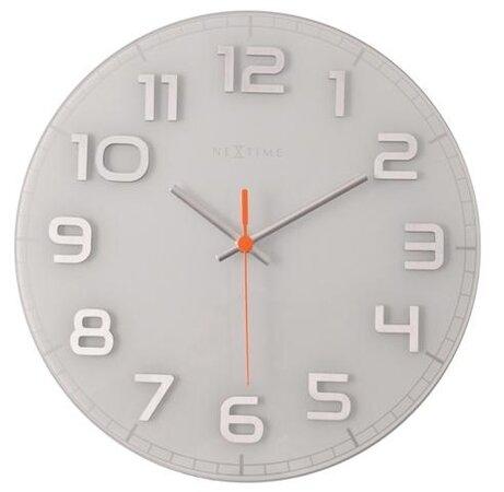 Nextime Classy round 8817wi nástenné hodiny