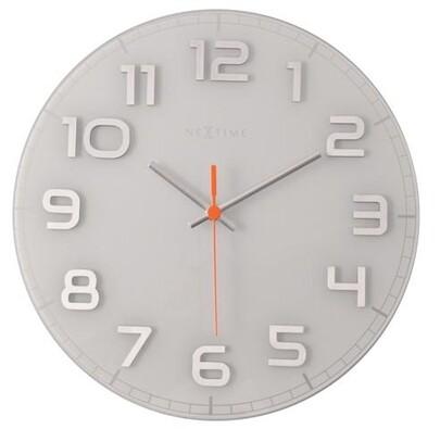 Nextime Classy round 8817wi nástěnné hodiny