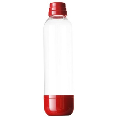 Láhev pro výrobník sody LIMO BAR, 1 l, tmavě červe, červená