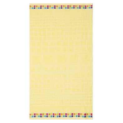 Ręcznik kąpielowy Mozaik żółty, 70 x 130 cm