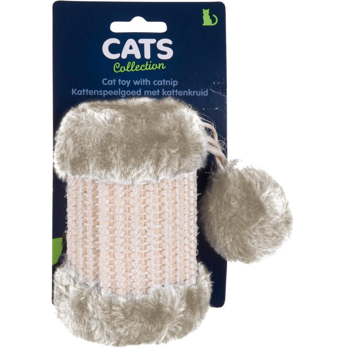 Škrabadlo pre mačky Cilinder, béžová