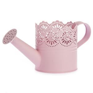 Kovová konvička Lace růžová, pr. 10 cm