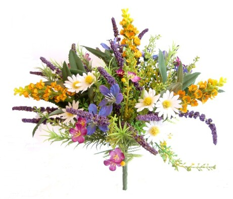 Umělá kytice lučního kvítí