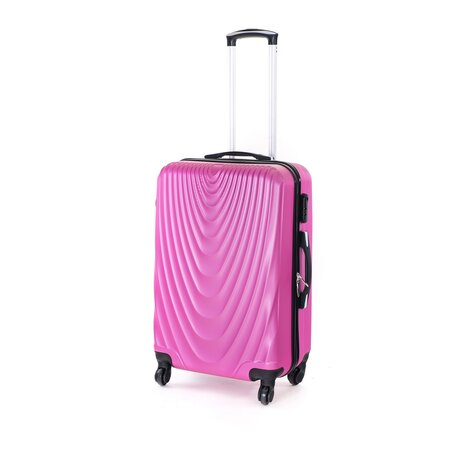 Pretty UP Cestovní skořepinový kufr ABS07 M, fialová