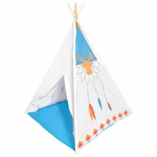 Ecotoys Dětský indiánský stan Teepee, bílá