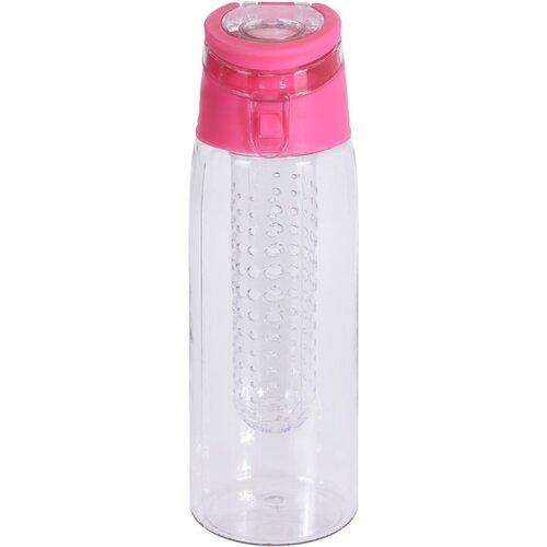 Športová plastová fľaša Lena 650 ml, ružová