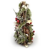 Świąteczny stożek ratanowy Adorno, 30 cm