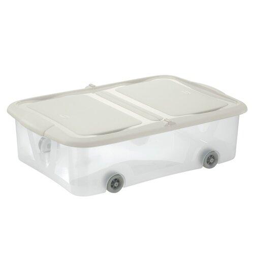 Tontarelli Úložný box s vekom Stockbox 25 l, transparentná/krémová