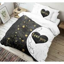 Kvalitex Bavlnené obliečky Love 3D, 140 x 200 cm, 70 x 90 cm