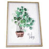 Eucalyptus keretezett vászonkép, 40 x 50 cm
