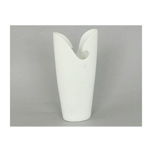 Keramická váza matná, biela