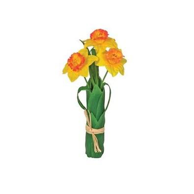 Umělé květiny, svazek narcisů