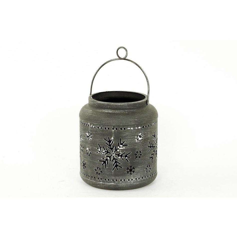 Kovová lucerna Escama, šedá
