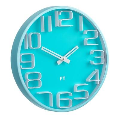 Future Time FT8010BL Numbers Designerski zegar ścienny, śr. 30 cm