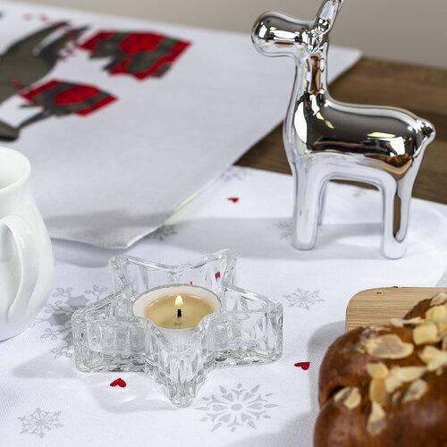 Karácsonyi kerámia rénszarvas, ezüst