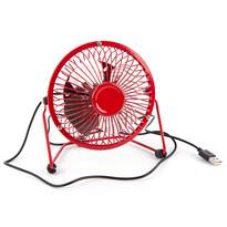 USB větrák červená, 13,5 x 11 x 15 cm