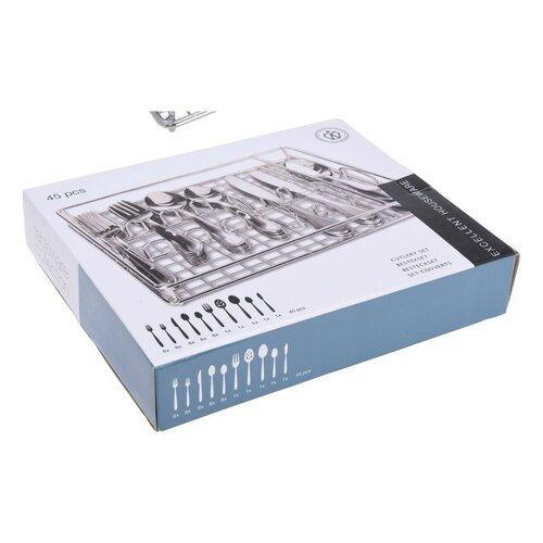 Excellent Houseware 45-częściowy komplet sztućców z pojemnikiem