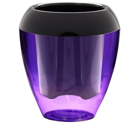 Plastia Calimera plastový květináč samozavlažovací fialová a černá