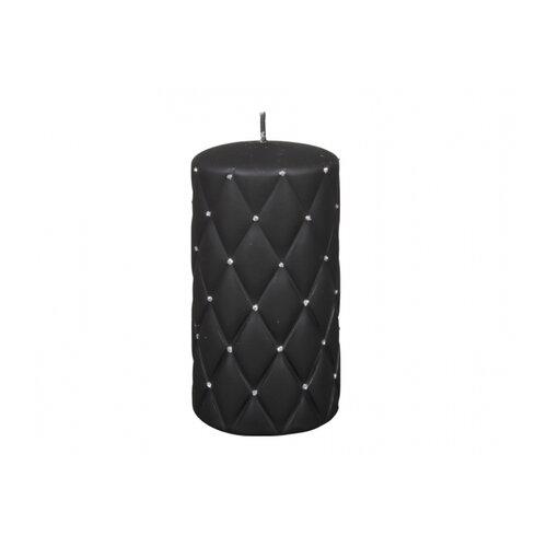 Dekorativní svíčka Florencia černá, 14 cm