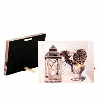 Obraz na płótnie LED Romantic, 20 x 15 cm